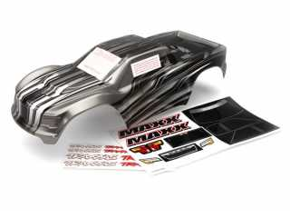 Traxxas Body, Maxx, ProGraphix (graphics are printed, requires paint & final color application)/ decal sheet - TRX8911X