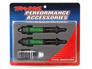 Traxxas Shocks, GTR xx-long green-anodized, PTFE-coated bodies with TiN shafts (fully assembled, without springs) (2) - TRX7462G