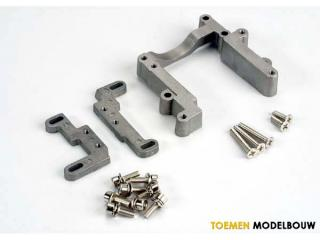 Traxxas Engine mount 2 piece, aluminum - TRX4460