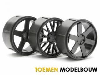 HPI WHEEL SET GUNMETAL MICRO RS4 - HPI73414