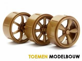 HPI WHEEL SET TYPE 2 GOLD MICRO RS4 - HPI73465