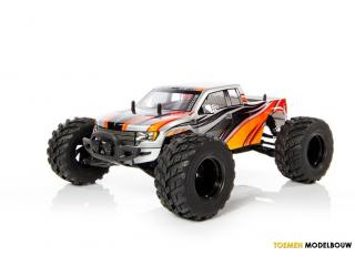 Yellow RC Rock Racer electro monster truck 2.4Ghz RTR - Rood
