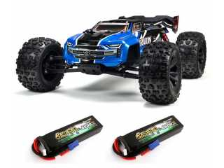 ARRMA Kraton 6S BLX 1/8 brushless speed monster truck 4WD Blauw - Model 2020 inclusief Power Pack