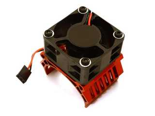 Integy 42mm Motor Heatsink+40x40mm Cooling Fan 16k rpm for 1/8 Traxxas & Arrma