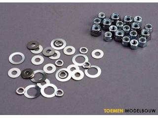 Traxxas Lock nut - washer set - TRX1252
