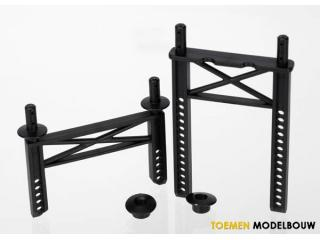 Traxxas Body mounts front & rear for Monster Jam Grave Digger - TRX7216