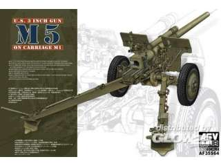 AFV Club 3in Gun M5 On Carriage M1 - 1:35 bouwpakket