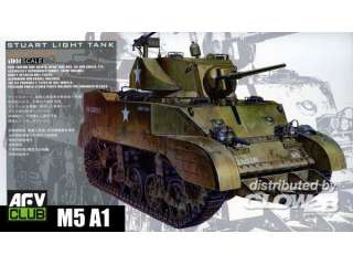 AFV Club US M5A1 Late type with Hedgerow cutter - 1:35 bouwpakket