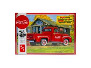 "AMT Ford F-100 ""Coca-Cola\"" Pickup with Diecast Coke Machine and Dolly 1:25 bouwpakket"