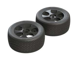 ARRMA DBOOTS EXABYTE T 6S TYRE SET GLUED BLACK 2PCS - AR550011