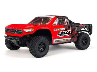 ARRMA Senton 4X4 brushed electro short course truck 4WD - Rood