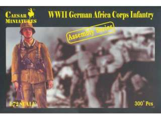 Ceasar Miniatures WWII German Africa Corps Infantry - 1:72 Bouwpakket