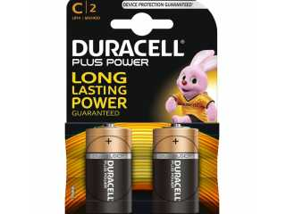 Duracell plus power alkaline C batterijen 2 stuks
