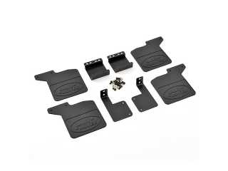 FASTRAX TRX-4 RUBBER MUDFLAPS & ALLOY MOUNTS FOR DEFENDER