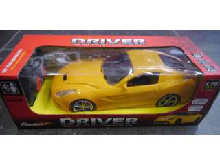 Ferrari ready to run 1:16 RC auto - Geel