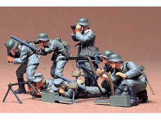 Tamiya GERMAN MACHINE GUN TROOPS KIT - 1:35 bouwpakket