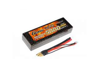 Gens ace 5000mAh 7.4V 50C-100C Hardcase Lipo Battery - EFRA approved