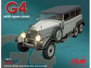 ICM - G4 With Open Cover WWII German Personnel Car - 1:24 - 24012