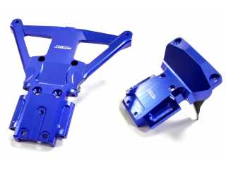 Integy Machined Front & Rear Bulkhead for Traxxas Rustler 4X4 & Slash 4X4 LCG Chassis