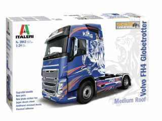 Italeri Volvo FH4 Globetrotter Medium Roof in 1:24 bouwpakket