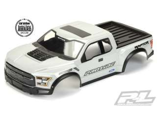 Proline body pre-painted & pre-cut 2017 Ford F-150 Raptor wit voor Slash 2WD & Slash 4x4