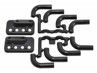 RPM Black Zoomies Mock Exhaust Headers - Black RPM70852