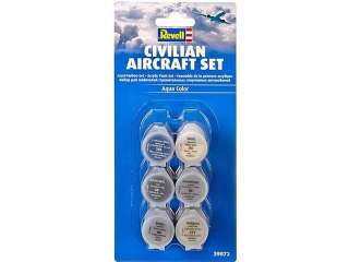 Revell Aqua Color Civilian Aircraft Set