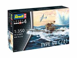 Revell German Submarine Type VII C/41 1:350 bouwpakket