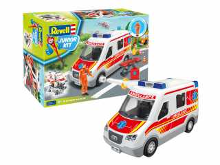 Revell Junior Kit Ambulance with figure in 1:20 bouwpakket