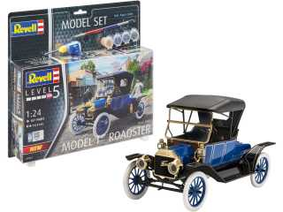 Revell Model Set 1913 Ford Model T Road 1:24 bouwpakket met lijm en verf