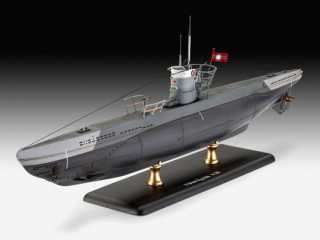 Revell Model Set German Submarine Type IIB (1943) 1:144 bouwpakket met lijm en verf