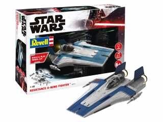 Revell Star Wars Resistance A-wing Fighter blue 1:44 bouwpakket easy click systeem