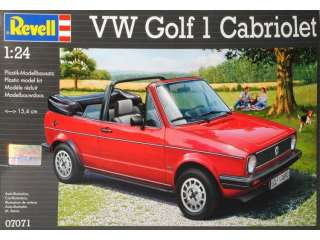Revell VW Golf 1 Cabriolet in 1:24 bouwpakket