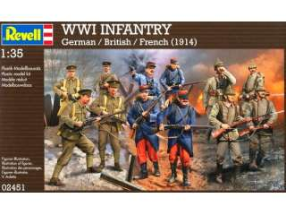 Revell WWI INFANTRY German - British - French 1914 in 1:35 bouwpakket