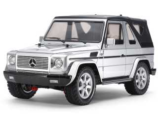 Tamiya MF-01X Mercedes-Benz G 320 Cabrio Silver painted Body