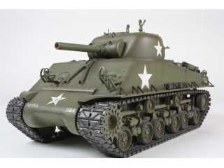 Tamiya RC Tank 1/16 M4 Sherman 105mm Howitzer Full Option Kit