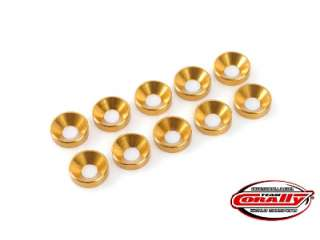 Team Corally - Aluminium Washer - for M2 Socket Head Screws - OD=6mm - Gold - 10 pcs
