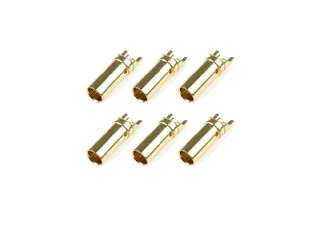 Team Corally - Bullit Connector 3.5mm - Female - Gold Plated - Ultra Low Resistance - 6 pcs