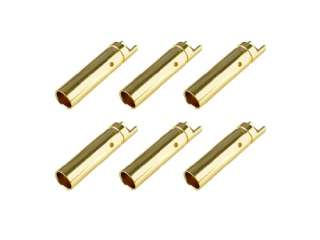 Team Corally - Bullit Connector 4.0mm - Female - Gold Plated - Ultra Low Resistance - 6 pcs