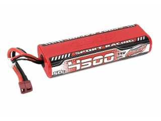 Team Corally Sport Racing 50C LiPo Battery 4500mAh 7.4V Round 2S Stick - T-Plug