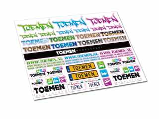 Toemen Modelsport Stickervel Deluxe