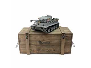 Torro Pro Edition RC Tank 1/16 Tiger I Early Version 2.4Ghz geleverd in luxe houten krat