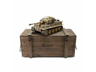 Torro Pro-Edition RC Tank 1/16 Tiger I Late Production 2.4Ghz geleverd in luxe houten krat