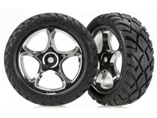 "Traxxas Anaconda Tires with Tracer 2.2"" Chrome Wheels - TRX2479R"