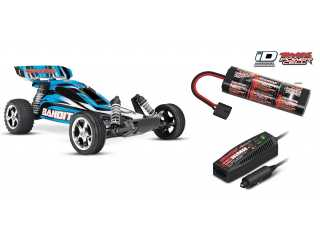 Traxxas Bandit XL5 2WD electro buggy RTR 2.4Ghz Blauw - inclusief Power Pack