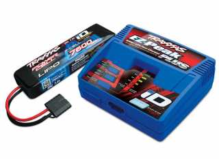 Traxxas Battery/charger completer pack (includes TRX2970 iD charger (1), TRX2869X 7600mAh 7.4V 2-Cell 25C LiPo Battery (1)) - TRX2955