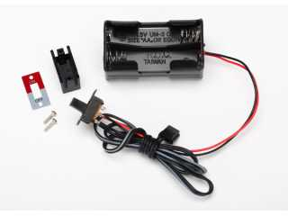 Traxxas Battery holder, 4-cell/ on-off switch - TRX3170X