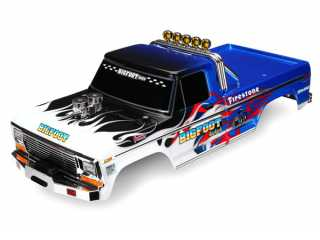 Traxxas Body, Bigfoot Flame, Officially Licensed replica (painted, decals applied) - TRX3653