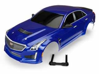 Traxxas Body, Cadillac CTS-V, blue (painted, decals applied) - TRX8391A
