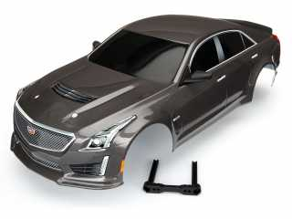 Traxxas Body, Cadillac CTS-V, silver (painted, decals applied) - TRX8391X